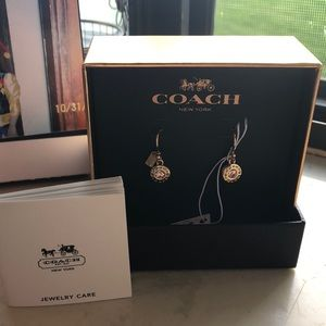 Nwt coach open circle stone earrings
